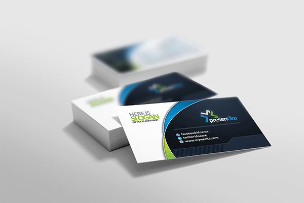 Corporate business card design identity design dubai uae we create your business card in such a way which will make you stand out from your competitors we present to you listen to your opinions and finalize colourmoves